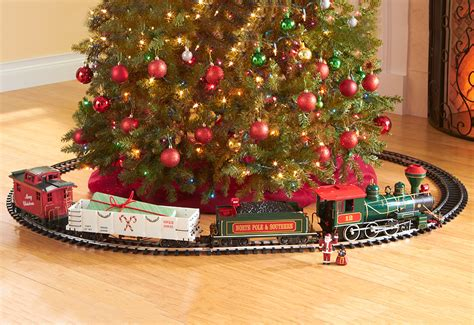christmas trains for under the tree before sharper image