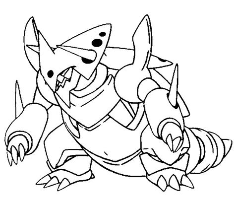 pokemon coloring pages garchomp pokemon mega coloring pages download printable coloring