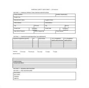 msds template free 13 data sheet templates free sle exle format