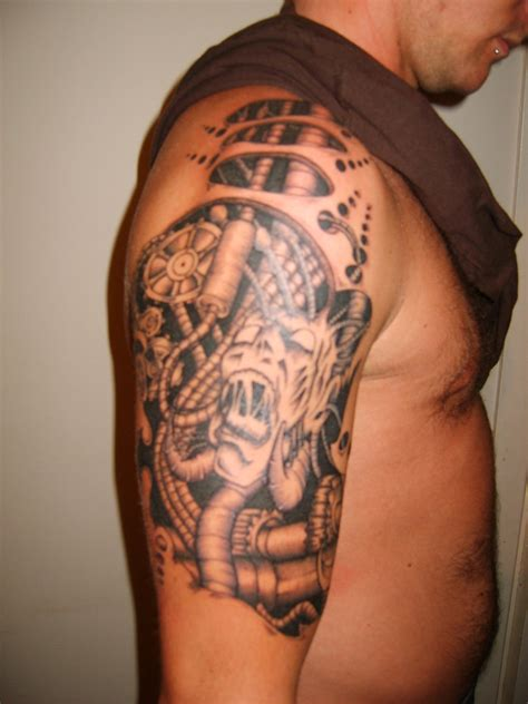 biomechanical tattoos for men biomechanical tattoos designs ideas