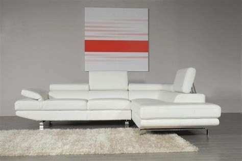 stylish leather sectional with chaise contemporary