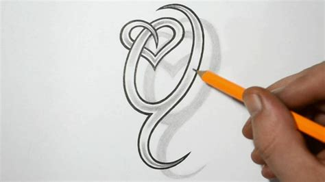 the letter t tattoo designs letter q and combined design ideas for