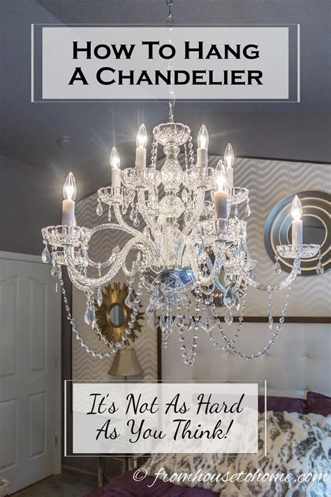 how to hang chandelier how to hang a chandelier