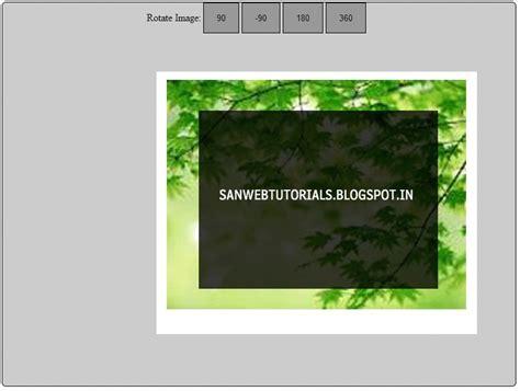 jquery rotate div image rotate script using jquery sanwebcorner