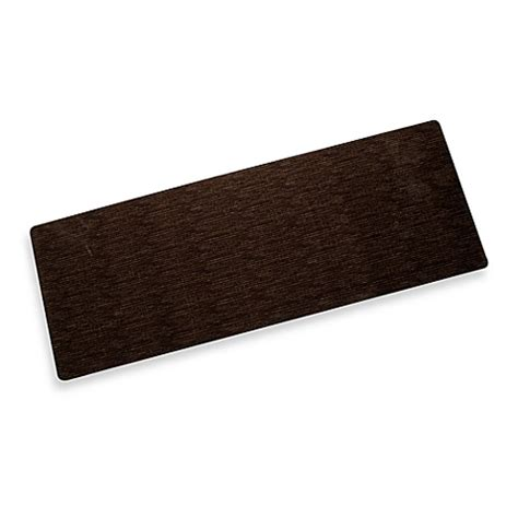 Bungalow Flooring Microfibres Kitchen Rug Buy Bungalow Flooring Microfibre Neoprene 23 Inch X 60 Inch Runner In Miller Brown From Bed Bath
