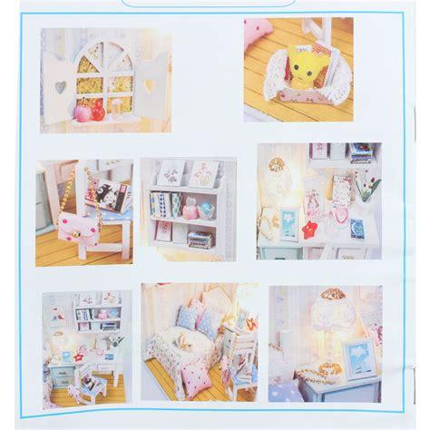 dollhouse g hoomeda diy wood dollhouse miniature with led furniture