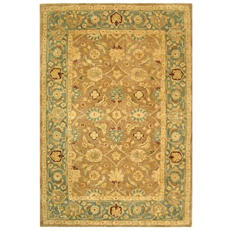 10 foot rugs safavieh anatolia brown blue 8 ft x 10 ft area rug an549a 8 the home depot