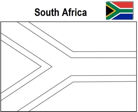 south flag colors the geography south africa flag coloring page