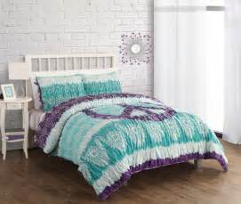 purple and teal bedding car interior design