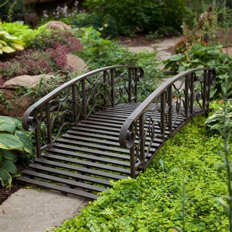 willow creek garden bridge metal willow creek 6 ft metal garden bridge the garden path
