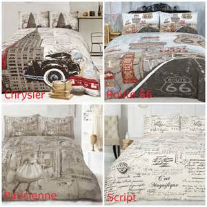 King Size Bedding Vintage Ardor Retro Doona Duvet Quilt Cover Set Single