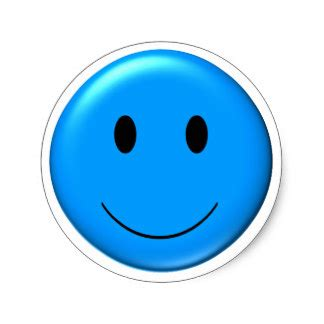 Smiley Aufkleber Blau by Blaue Smiley Aufkleber Zazzle De