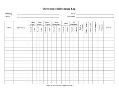 bathroom cleaning schedule restroom cleaning checklist template