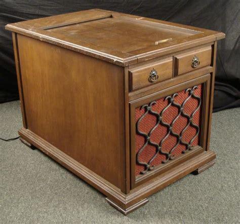 retro hi fi cabinet sylvania vintage hi fi radio record player wood cabinet