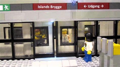 Metro Opens Doors Next by Lego Mindstorms Metro Station With Sliding Doors