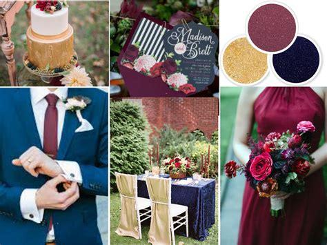 navy blue wedding color schemes fall wedding colors navy wine and gold wedding colors
