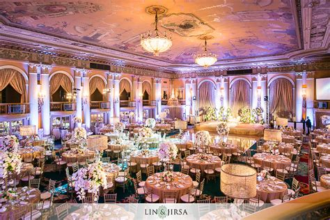 wedding banquet los angeles millennium biltmore hotel los angeles indian wedding reception nick and raman