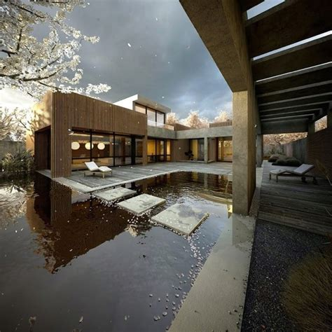 modern japanese homes 27 calm japanese inspired courtyard ideas digsdigs