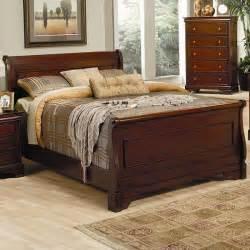 versailles sleigh bed in mahogany marjen of