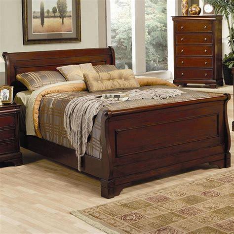 king size sleigh bed versailles queen sleigh bed in deep mahogany marjen of