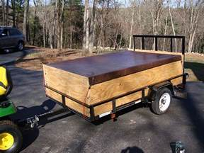 Diy Hard Floor Camper Trailer Plans putting wooden sides on a utility trailer