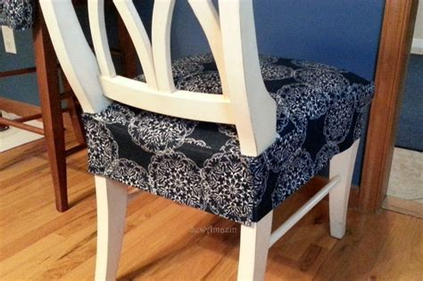 How To Cover A Dining Room Chair Seat by Dining Kitchen Chair Seat Cover Back View Finished