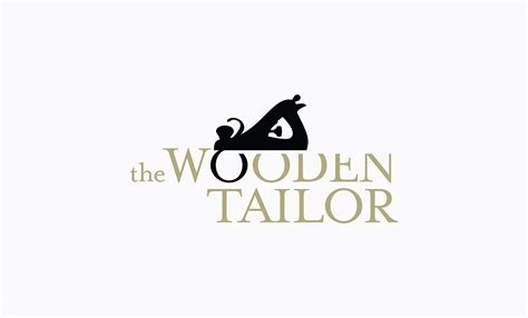 design logo tailor company naming branding for the wooden tailor idapostle