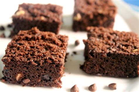 Brownies Chocochips chocolate brownies with choco chips 226 eggless cocoa