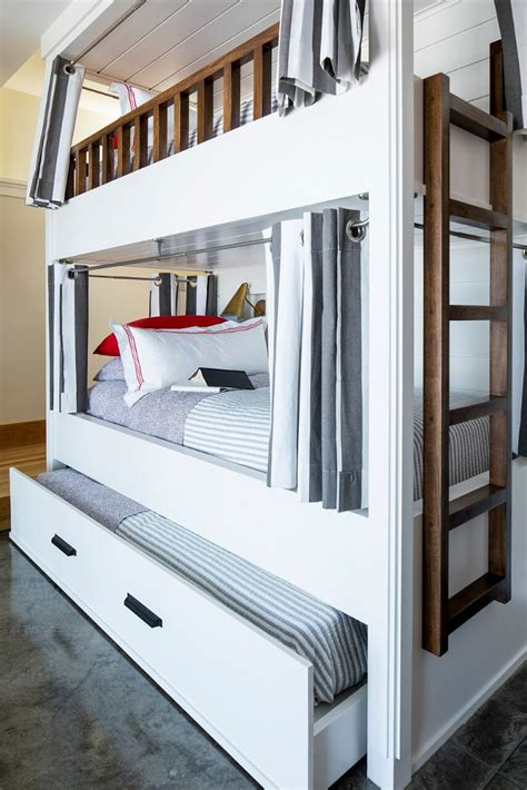 bunk bed with trundle lake house with colorful interiors home bunch interior