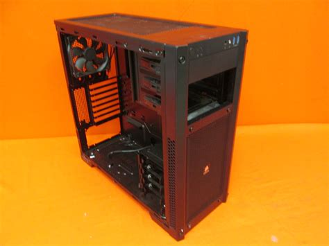 broken corsair carbide series black  mid tower