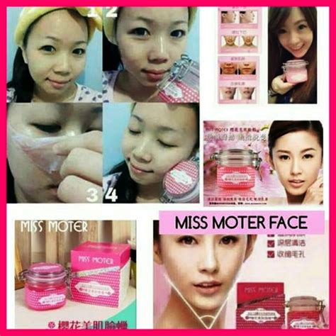 Miss Moter Masker Pelembab Perawatan Wajah Cherry Blossom miss moter matcha pink wax masker wajah angkat kulit mati sejak pertama pakai gea care