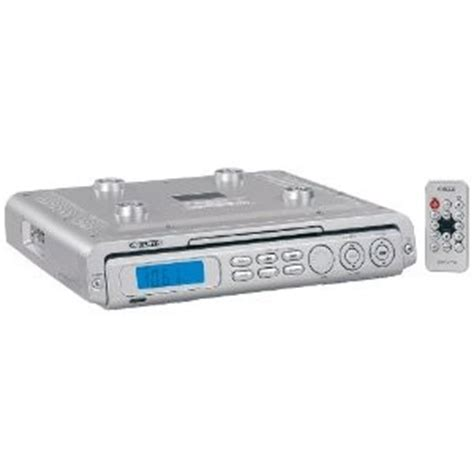 kitchen cabinet radio cd player under the cabinet kitchen cd player w am fm radio silver