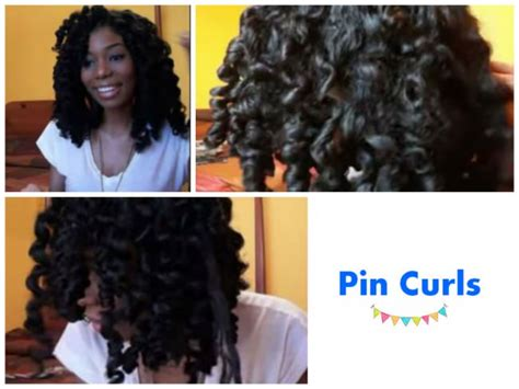 heatless hairstyles for short relaxed hair relaxed hair and pin curls hairstylegalleries com