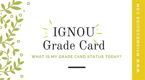 Ignou Mba Result Grade Card by Ignou Grade Card June 2018 Status Calculator Not Completed