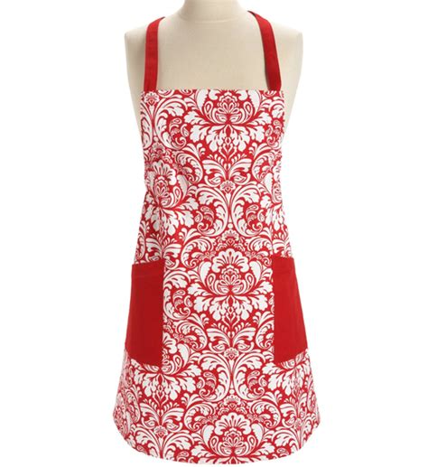 kitchen apron damask in aprons and oven mitts