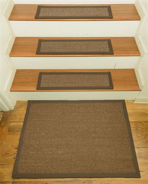 stair rugs treads sandstone 100 sisal carpet stair treads 9 quot x29 quot set of 13 w landing mat ebay