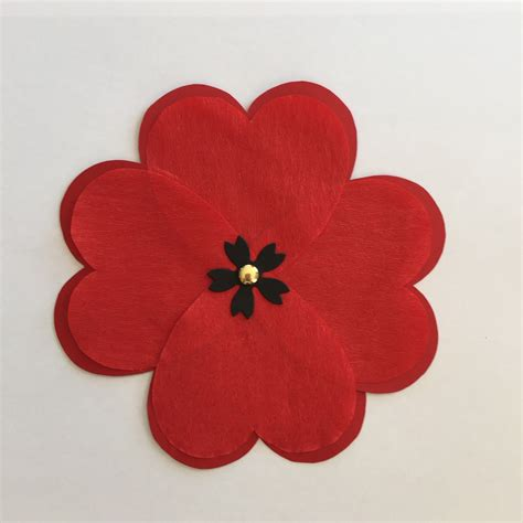 Make Paper Poppies - poppy templates images