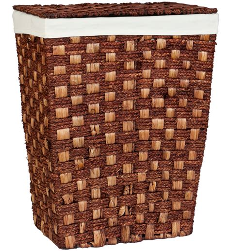 woven laundry with lid woven laundry her with lid espresso in clothes hers
