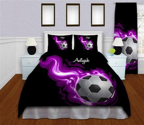 soccer comforter queen soccer bedding personalized soccer duvet cover sports