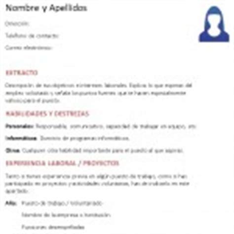 Plantillas Curriculum Experiencia Ni Estudios Ejemplos De Curriculum Vitae Ejemplos De Cv Modelo Curriculum