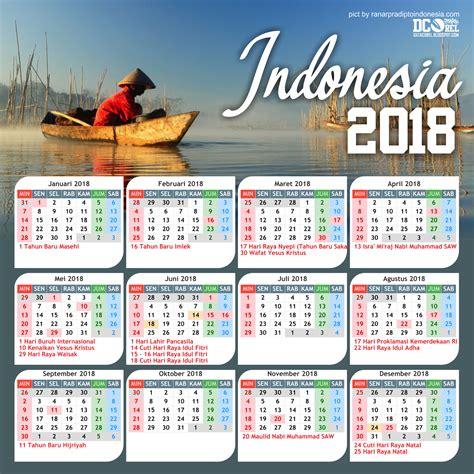 format kalender 2018 kalender indonesia tahun 2018 cdr beserta hari libur dan