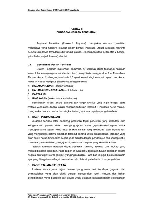 cara penulisan skripsi pdf pedoman penyusunan penulisan proposal penelitian dan skripsi