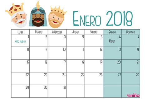 Calendario 2018 Enero Enero Calendario Escolar 2017 2018 Para Imprimir