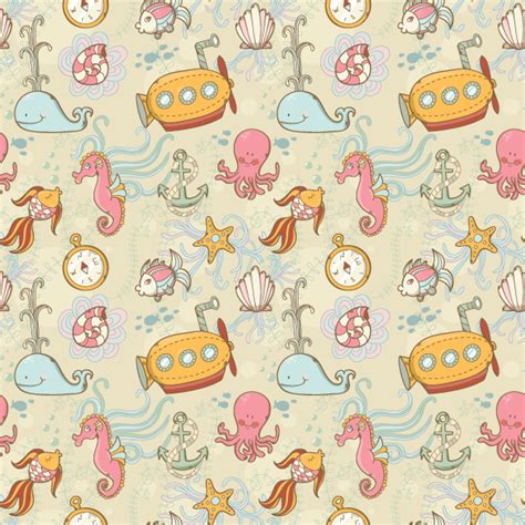 seamless pattern design illustrator create a summer underwater seamless pattern in adobe