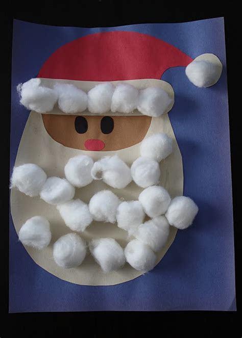 cotton ball santa child care pinterest