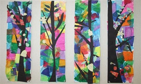 papier collage nature  idees creatives