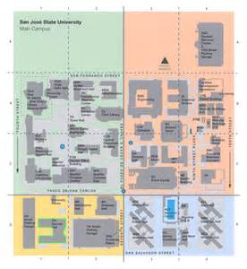 San Jose State Map by Sjsu Map A Guide To Surviving Sjsu