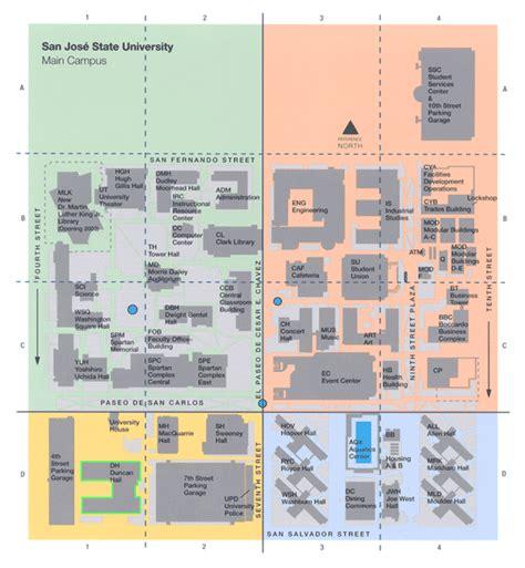 san jose cisco map sjsu map a guide to surviving sjsu