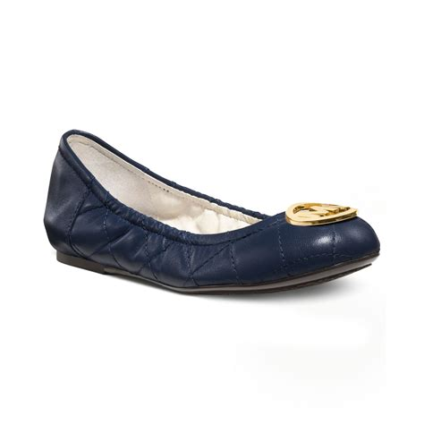 Michael Kors Fulton Quilted Ballet Flats by Michael Kors Fulton Quilted Ballet Flats In Blue Navy Lyst