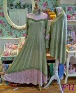 Gamis Jersey Dengan Brokat Gliter Set Bergo baju gamis brokat narjani busui y880 busana muslim syari
